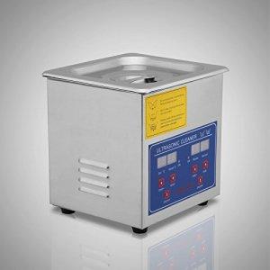 jakan ménage équipement Nettoyeur à Ultrasons en acier inoxydable, Acier inoxydable, gris, 1.3L Digital
