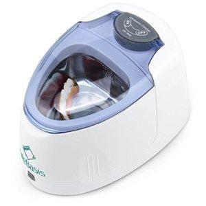 LifeBasis Nettoyeur à Ultrasons 140ML pour Prothèses Dentaires et Bijoux à Domicile Blanc