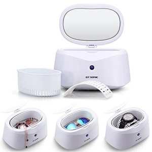 GT Appareil de nettoyage à ultrasons Nettoyeur à Ultrasons Nettoyeur à Ultrasons Appareil de nettoyage Ultra Sonic Cleaner pour lunettes dentiers 600ml Weiss