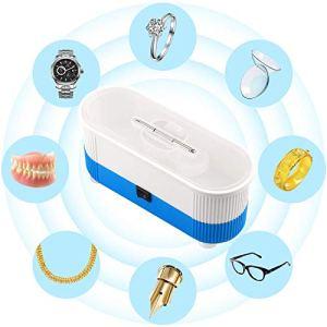 nettoyeur à ultrasons SONGET Mini nettoyeur sans fil à ultrasons pour lunettes Bijoux Lentille autres petites choses (Bleu)