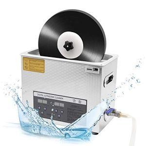 CGOLDENWALL nettoyeur à ultrasons pour disques vinyle 6L 180W minuterie 30min rotative automatique pour enregistrement 7inch/12inch sans dommage CE (machine+panier)