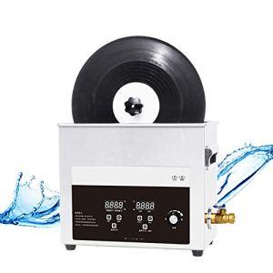 CGOLDENWALL Nettoyeur à ultrasons pour disques vinyles 6,5 l 180 W avec 40 000/s Haute Puissance Nettoyage ultrasonique de 0 à 30 Min Minuterie de Nettoyage Automatique Rotatif pour 8 disques