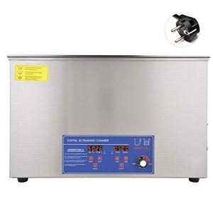 Décapant ultrasonique de Digital 30L, décapant ultrasonique d'affichage numérique de 100AL, température réglable de machine à laver ultrasonique 40KHz 800W(EU Plug 220V)