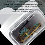 FMMXN Nettoyeur à ultrasons, Verres à Plateau-prothèse à ultrasons Lunettes de Dispositif de Nettoyage Montres Bijoux Boucles d'oreilles Collier Bague,Rose