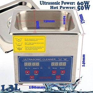 GOTOTOP 1.3L ~ 30L Professional Ultrasons Lot de nettoyage Appareil dentaire avec affichage numérique pour le nettoyage de bijoux, lunettes, éléments, métaux, 1.3L
