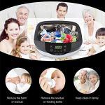 HXwsa Nettoyeur à ultrasons, 2.5L Professionnel Haute capacité Bijoux à ultrasons Chauffants Cleaners Machine avec Degas Fonction et minuterie numérique pour Le Nettoyage Lunettes, Montres, dentiers