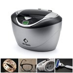 LifeBasis nettoyeur à ultrasons numérique 42KHz 750ml pour les Bijoux, lunettes, montres, etc.