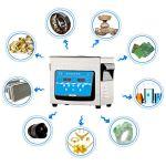 Nettoyeur à ultrasons professionnel Industrial Hardware – Minuterie numérique pour système de chauffage avec nettoyeur sonique 10/15/30L,avec panier, machine de nettoyage ultrasonique grande capacit