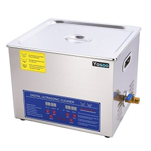 Nettoyeur professionnel à ultrasons avec écran digital pour nettoyer des bijoux, lunettes, pièces, montres, etc. 15L