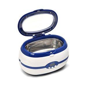 Professional nettoyeur à ultrasons Nettoie Bijoux montres Lunettes stérilisation en acier inoxydable résistance à la corrosion Lnner Réservoir Taille M USA Blue