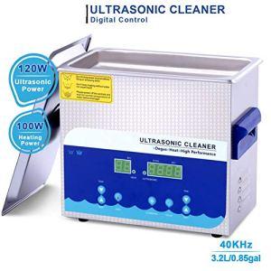 Washing Machine Nettoyeur à Ultrasons 3.2l avec Minuterie De Panier De Chauffage 120w Numérique pour Bijoux Bague Lunettes Dentier Bracelet Montre Pièces Monnaie Petites Pièces Métalliques Etc Fauay