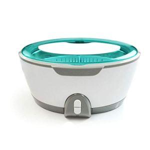 BYBYC Nettoyeur à ultrasons pour Collier Boucles d'oreilles Bracelets dentiers ménages ultrasons Machine de Nettoyage Laveuse,Gris