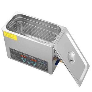 LYL Nettoyeur à ultrasons 6 L Double fréquence Nettoyeur à ultrasons Minuteur Chauffage Réglable Hautes performances Prise d'air Panier 6l