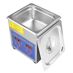 Machine de Nettoyage à ultrasons, 480W en Acier Inoxydable numérique Nettoyeur à ultrasons Ultra Sonic Bath Heater Timer pour Bijoux Lunettes Anneaux pièces (1,3 L)