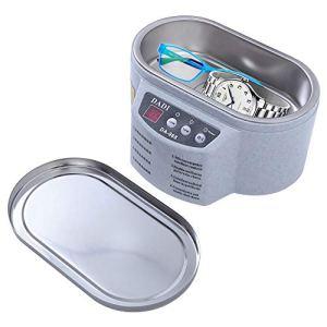 Mini Nettoyeur à ultrasons Bijoux Lunettes Circuit Board Machine de Nettoyage à ultrasons Nettoyeur Intelligent de contrôle de Bain,Gris