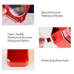 Nettoyeur à ultrasons Nettoyant Bijoux Machine Anneaux Collier Boucle d'oreille de Nettoyage Automatique de Cas Bijoux USB Nettoyage Case,Rouge