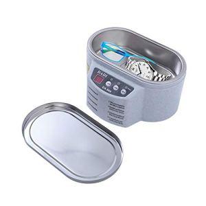 ZXGHS Mini Nettoyeur À Ultrasons, 0,5 Pouces Écran LED, Adapté pour Le Nettoyage des Bijoux, des Lunettes, Accessoires, Couvre-Chefs, Broches, Stylos, Etc.