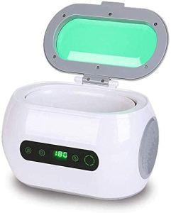 NOBRAND Nettoyeur à ultrasons, nettoyeur à ultrasons pour bijoux professionnels, lentilles avec poubelle
