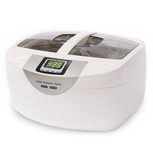 Vogvigo 60W nettoyeur à ultrasons, 2.5L Digital Cleaner Rondelle machine avec réglage de la minuterie pour bijoux, montres, prothèses, verres, pièces de monnaie et des fruits