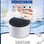 ZHLZH Nettoyeur à ultrasons, Nettoyeur à ultrasons Professionnel pour prothèses dentaires, Machine Professionnelle à Nettoyeur à ultrasons, Nettoyeur à ultrasons, Ultrasonique Portable 150ML