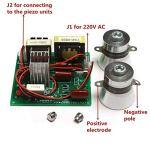 Generies Module d'alimentation avec 2Pcs 50W 40K, Transducteurs Conseil AC 220V Nettoyeur à ultrasons Driver Power Conseil Ajustable Circuit Remplacer