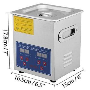 VEVOR Nettoyeur A Ultrasons 2L Ultrasonic Cleaner Professionnel Nettoyeur Digital Affichage Ultrasonique (2L)