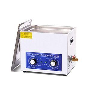 10L professionnel en acier inoxydable nettoyeur à ultrasons Lunettes Bijoux Aspirateur machine de nettoyage mécanique Chauffage Courroie réglable Qualité commerciale