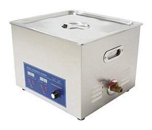 15L multifonctionnel en acier inoxydable nettoyeur à ultrasons machine à laver Thermostat digital paramètres de courroie, puissance réglable avec un panier