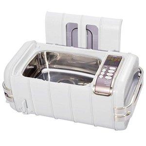 Commercial Nettoyeur à Ultrasons, 3,2 quarts/3 L, Bijoux Monocle Nettoyage Machine avec Numérique Minuteur Plastique Panier, Lumière Gris