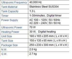 Gowe 1.3L en acier inoxydable Digital nettoyeur à ultrasons avec panier à linge