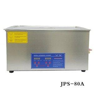 Hot dentaire en acier inoxydable 22L litre Industrie chauffé Digital nettoyeur à ultrasons Chauffage Minuteur Jps-80a avec panier