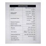 HUATU Nettoyeur à Ultrasons Puissant 170W Affichage Numérique Grand Réservoir Capacité 2500ml