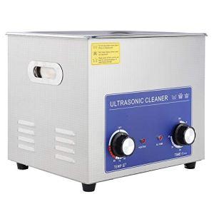 Nettoyeur à Ultrasons Professionnel, 1 Pièces en Acier inoxydable Nettoyeur à ultrasons Chauffé Machine avec panier (Variété de Tailles: 2L/ 3L/ 6L/ 10L/ 14L/ 15L/ 19L/ 22L)(10L)