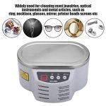 Nettoyeur à ultrasons professionnel, Nettoyeur de bijoux à ultrasons Machine de nettoyage à ultrasons 600 ml avec minuterie numérique pour Bagues Lunettes Montres Pièces Outils(MOI)