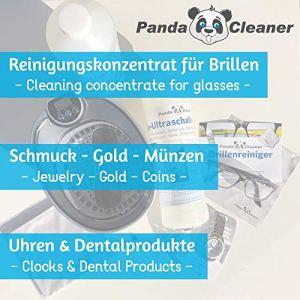 PANDACLEANER® Nettoyeur à ultrasons concentré pour lunettes, bijoux, produits dentaires, or, pièces de monnaie, verre, montre (étanche) etc. | 1 l 2 l 3 l
