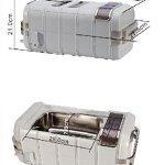 QINGXI Commercial Nettoyeur à Ultrasons, 3,2 Quarts/3 L, Bijoux Monocle Nettoyage Machine avec Numérique Minuteur Plastique Panier, Lumière Gris