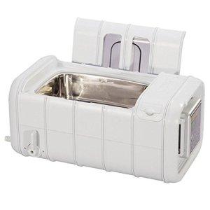 QINGXI Commercial Nettoyeur à Ultrasons, 3L Grand Capacité avec Numérique Minuteur Chauffe-Eau Plastique Panier Nettoyage Machine Lumière Gris