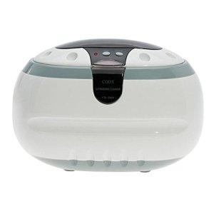 QINGXI Nettoyeur à Ultrasons 600ML Sonique Vague Inoxydable Acier Réservoir avec UV Lumière Bijoux & Monocle Nettoyeur (Blanc/Gris)