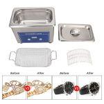 Cikonielf Nettoyeur ultrasonique numérique 800 ml, 18 minuteurs réglables, mini machine de nettoyage à ultrasons pour métaux, bijoux, lunettes