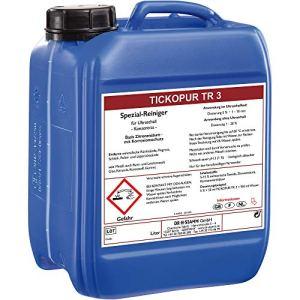 Liquide à ultrasons Tickopur TR 3 (5L) pour carburateur | Concentré de nettoyage avec dosage de 5 %, nettoyant à ultrasons pour aluminium