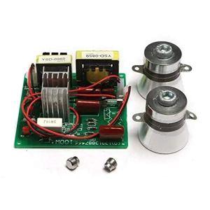 Module d'alimentation avec 2Pcs 50W 40K, Transducteurs Conseil AC 220V Nettoyeur à ultrasons Driver Power Outil Bricolage