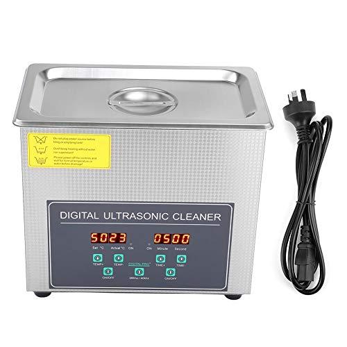 Numérique Nettoyeur Ultrason, 3L Double Fréquence 28 kHz/ 40 kHz Digital Nettoyage à Ultrasons avec Minuteur- Réservoir Inoxydable