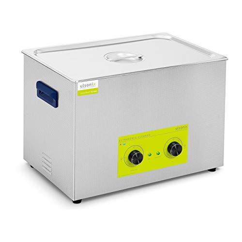Ulsonix Nettoyeur À Ultrasons Bain Ultrason Bac Sonicateur Cuve Machine Ultrason PROCLEAN 30.0MS (30 litres, Puissance Ultrason 600 W, Chauffe 500 W, 40 kHz, Minuterie 60 min, Inox)