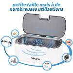 VPCOK Nettoyeur à Ultrasons, pour Nettoyage Bijoux, Bagues, Dentier, Montre, CD Disque