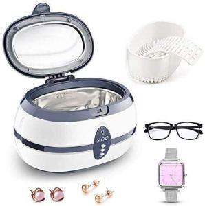 AULLY PARK Nettoyeur à ultrasons numérique 600 ml – Avec support de montre et panier de nettoyage – Pour lunettes et bijoux – 40 000 Hz 35 W