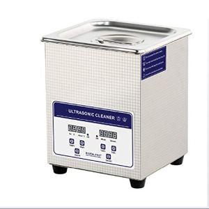 QWERTOUY Nettoyeur ultrasonique numérique pour Le Bain 2L 60W Solution ultrasonique avec Appareil de Chauffage Pièces Nettoyage Machine