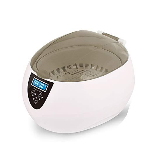 VISZC Nettoyeur à ultrasons pour bijoux – Sonic Ultra Silver Ring – Machine de nettoyage de dents – Avec réservoir en acier inoxydable professionnel – 750 ml – Facile à utiliser