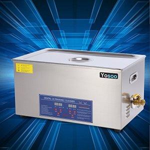 Zerone Nettoyeur à ultrasons Machine professionnelle avec nettoyeur à ultrasons et dents en acier inoxydable Réglage du compteur de temps du chauffe-eau 30L