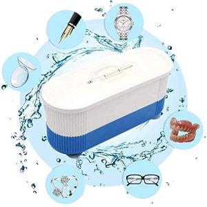 Machine de nettoyage de bijoux à ultrasons, mini machine de nettoyage, nettoyeur à ultrasons automatique multifonctionnel pour lentilles de contact lunettes montres, bagues, colliers, pièces de monnai