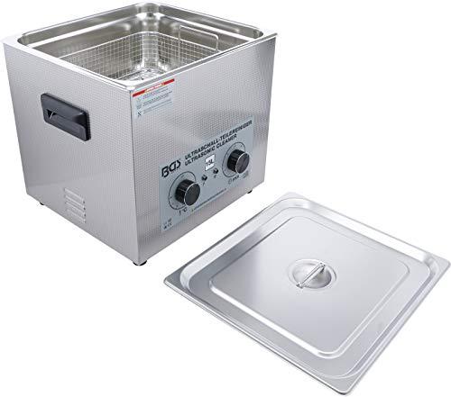 BGS 6881 | Nettoyeur à ultrasons | 15 L | Appareil de nettoyage à ultrasons professionnel avec chauffage